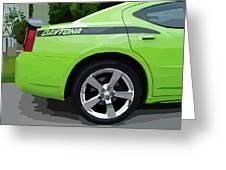 Charger Daytona Greeting Card