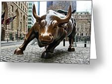 Charging Bull 1 Greeting Card