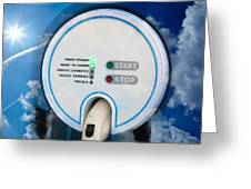 Charging Station For Electric Hybrid Car Greeting Card
