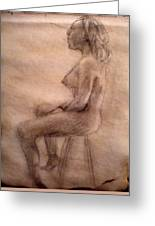 Charity Figure Drawing 3 Greeting Card