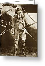Charles A. Lindbergh And Spirit Of St. Louis May 12 1927 Greeting Card