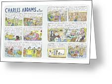 Charles Addams Greeting Card