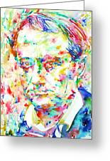 Charles Baudelaire Watercolor Portrait.1 Greeting Card