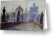 Charles Bridge Prague Greeting Card