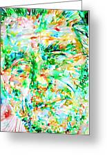 Charles Bukowski Portrait.3 Greeting Card