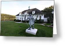 Charles Darwin Statue Cold Spring Harbor New York Greeting Card