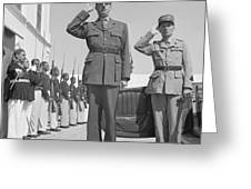 Charles De Gaulle In Carthage Tunisia 1943 Greeting Card