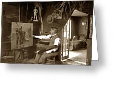 Charles Dickman Artist Monterey California Circa 1907 Greeting Card