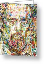 Charles Mingus Watercolor Portrait Greeting Card