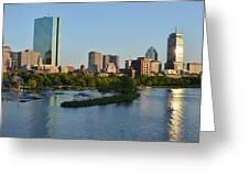 Charles River Reflection Greeting Card