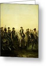 Charles Rochussen Napoleon Met Zijn Staf Greeting Card