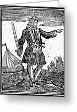 Charles Vane (c1680-1720) Greeting Card