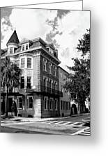 Charleston Corner Charleston Sc Greeting Card by William Dey