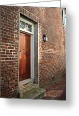 Charleston Door Greeting Card