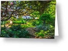 Charleston Sc Gardens Greeting Card