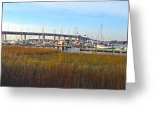 Charleston Harbor And Marsh Greeting Card