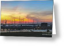 Charleston Harbor Sunset Greeting Card