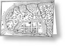 Charleston: Plan, 1704 Greeting Card