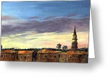 Charleston Rooftop Sunset Greeting Card