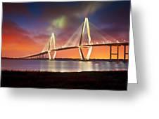 Charleston Sc - Arthur Ravenel Jr. Bridge Cooper River Greeting Card by Dave Allen