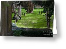 Charleston Sc Graveyard Greeting Card