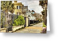 Charleston Sidewalk Greeting Card