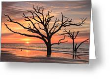 Charleston South Carolina Edisto Island Beach Sunrise Greeting Card