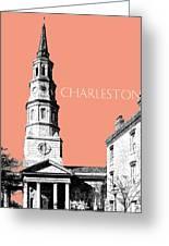 Charleston St. Phillips Church - Salmon        Greeting Card