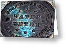 Charleston Water Meter Greeting Card
