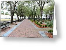 Charleston Waterfront Park Walkway Greeting Card