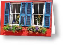 Charleston Windows Greeting Card