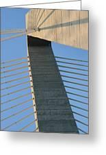 Charleston's Cable Bridge Geometric Abstract Greeting Card