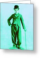 Charlie Chaplin The Tramp 20130216m150 Greeting Card by Wingsdomain Art and Photography