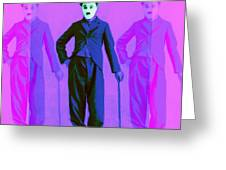 Charlie Chaplin The Tramp Three 20130216m108 Greeting Card by Wingsdomain Art and Photography