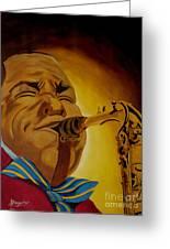 Charlie Parker-legends Of Jazz Greeting Card