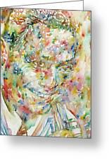 Charlie Parker Watercolor Portrait Greeting Card