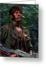 Charlie Sheen In Platoon Greeting Card