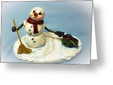 Charlie's Hat Snowman Greeting Card
