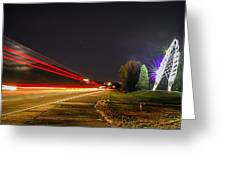 Charlotte City Airport Entrance Sculpture Greeting Card
