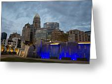 Charlotte City Lights Greeting Card by Serge Skiba