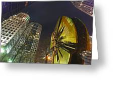 Charlotte Downtown At Night Greeting Card