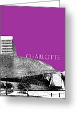 Charlotte Nascar Hall Of Fame - Plum North Carolina Greeting Card