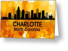 Charlotte Nc 3 Squared Greeting Card