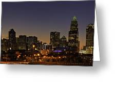 Charlotte Nc Greeting Card by Serge Skiba