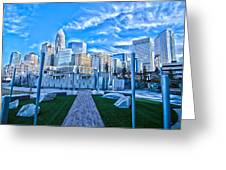 Charlotte Nc Usa - Charlotte Skyline  Greeting Card