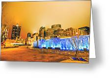 Charlotte Nc Usa - Charlotte Skyline Near R Greeting Card