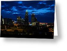 Charlotte North Carolina Panoramic Image Greeting Card by Chris Flees