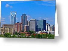 Charlotte Panorama Greeting Card