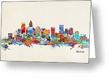 Charlotte Skyline North Carolina Greeting Card