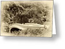 Charm Of Bow Bridge Greeting Card